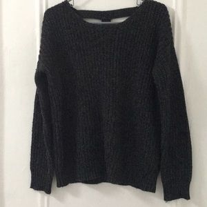 Sparkle and Fade Gray Oversized Sweater
